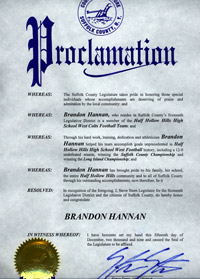 Brandon Hannan Proclamation